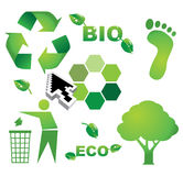 Bio eco icons Stock Images
