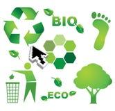 Bio eco icons Stock Images