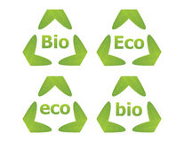 Bio and Eco labels Royalty Free Stock Photography