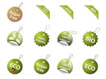 Bio and eco labels Royalty Free Stock Images