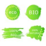 Bio-, eco, labes naturali, forme Fotografia Stock