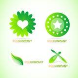 Bio eco logo icon set Royalty Free Stock Photo
