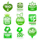 Bio - Eco - Natural icon set Royalty Free Stock Photo