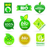 Bio - Eco - Natural icon set Royalty Free Stock Photos