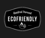 Bio and eco one hundred percent white on black. Is a vector illustration for any use stock illustration