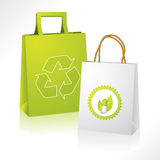 Bio and eco paperbags Royalty Free Stock Photos