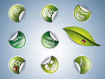 Bio and eco stickers Royalty Free Stock Photo