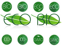 Bio and eco symbols. Set of bio, eco and natural symbol Royalty Free Stock Photo