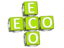 Bio-Eco Text 3D auf weißem Hintergrund Lizenzfreie Stockfotos
