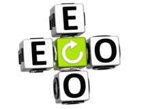 bio Eco texte de 3D sur le fond blanc Photographie stock libre de droits