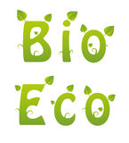 Bio and Eco words Royalty Free Stock Image