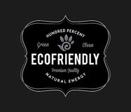 Bio ecofriendly white on black. Is a vector illustration for any use royalty free illustration
