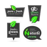 Bio - ecología - verde - natural - orgánico - sistema del icono Imagenes de archivo
