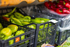 Bio ecological vegetables market Royalty Free Stock Photos