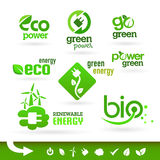 Bio - Ecology - Green - Energy icon set Stock Photo
