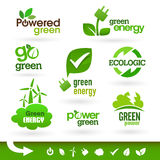 Bio - Ecology - Green - Energy icon set Royalty Free Stock Photo