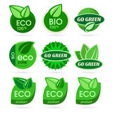 Bio - Ecology - Green icon set Stock Photography