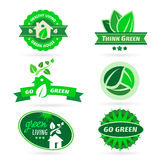 Bio - Ecology - Green icon set Royalty Free Stock Photography