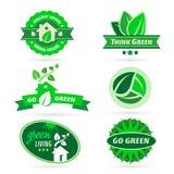 Bio - Ecology - Green icon set Royalty Free Stock Photography