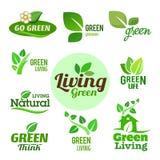 Bio - Ecology - Green icon set Stock Photo