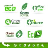 Bio - Ecology - Green icon set Royalty Free Stock Photos