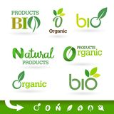 Bio - Ecology - Green - Natural icon set Royalty Free Stock Photos
