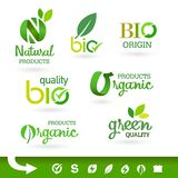 Bio - Ecology - Green - Natural icon set Stock Photography