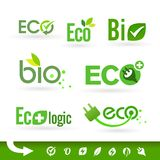 Bio - Ecology - Green - Natural icon set Stock Photos