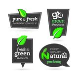 Bio - Ecology - Green - Natural - Organic -icon set Stock Images