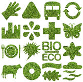 Bio & Ecology icon set Royalty Free Stock Photo