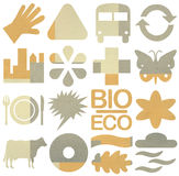 Bio & Ecology icon set Royalty Free Stock Photography