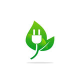 Bio electric nature energy logo Royalty Free Stock Images