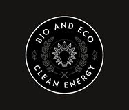 Bio energy clean and eco white on black. Is a illustration for any use royalty free illustration