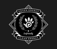 Bio energy clean energy white on black. Is a illustration for any use stock illustration