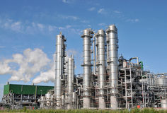 Bio ethanolväxt 3 Arkivbilder