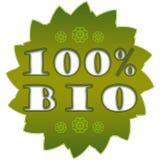 BIO- etichetta di 100% Fotografia Stock Libera da Diritti