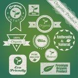 Bio- etichette Fotografie Stock
