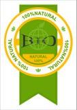 Bio etiqueta Imagens de Stock Royalty Free
