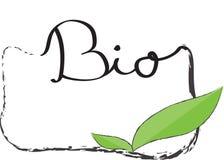 Bio etiqueta Fotografia de Stock Royalty Free