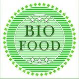 Bio etiqueta de la comida Fotografía de archivo
