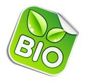 Bio etiqueta engomada Foto de archivo