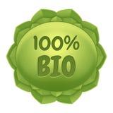 - Bio etiqueta - etiqueta natural e pura do produto natural - etiqueta de Eco Fotografia de Stock