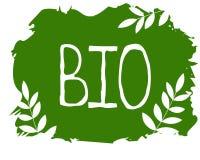 Bio etiqueta saudável do alimento biológico e badg de alta qualidade do produto Eco, 100 bio e ícone do produto natural Emblemas  ilustração stock