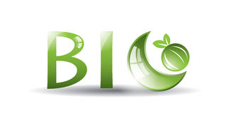 Bio etiqueta verde Foto de archivo