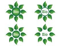 Bio etiquetas Imagem de Stock Royalty Free