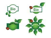 Bio etiquetas Fotos de Stock Royalty Free