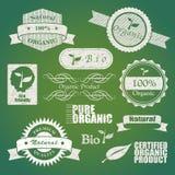 Bio etiquetas Fotografia de Stock