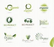 Bio etiquetas verdes ilustração do vetor