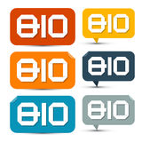 BIO färgrika pappersetiketter Fotografering för Bildbyråer
