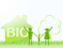 Bio family and green house. ecology theme Stock Image